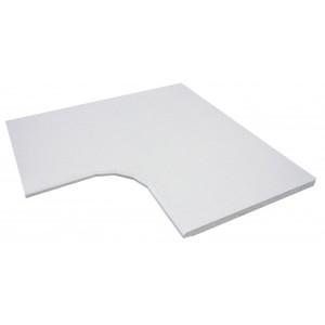 Plate 30 Angle Intérieur Blanc de Loire
