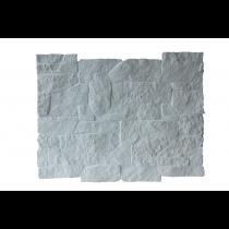 Plaqu. Mur. Ext. Châtelaine Blanc Calcaire / Blanc Cristal