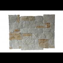 Plaqu. Mur. Int. Châtelaine Roche Dorée / Blanc Cristal