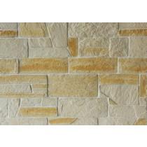 Plaqu. Mur. Ext. Impériale Roche Dorée / Blanc Cristal