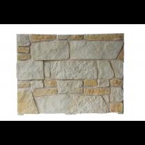 Plaqu. Mur. Ext. Royale Roche Dorée / Blanc Cristal